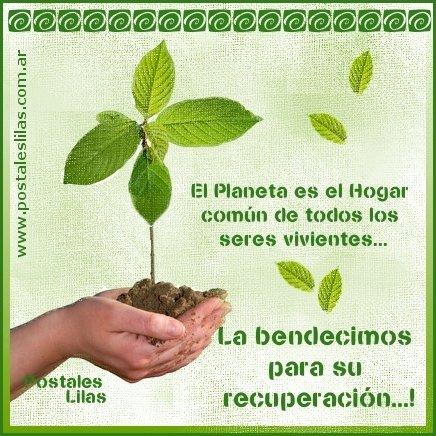El Planeta es el Hogar común de todos los seres vivientes... La bendecimos para su recuperación...!