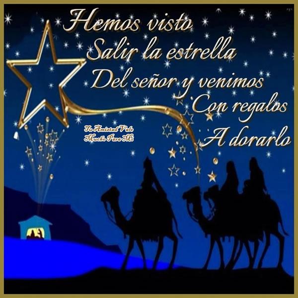 Hemos visto salir la estrella del señor y venimos con regalos a dorarlo
