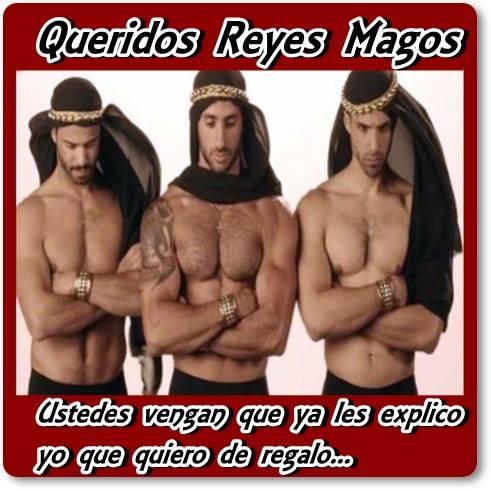 Queridos Reyes Magos, Ustedes vengan que ya les explicó yo que quiero de regalo...
