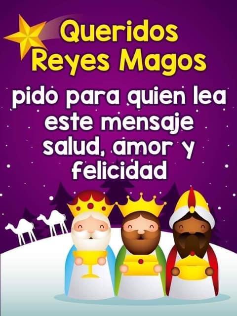 Queridos Reyes Magos pido para...