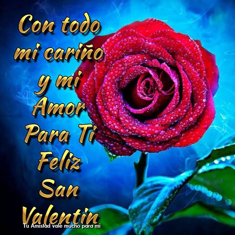 Con todo mi cariño y mi amor para ti. Feliz San Valentín