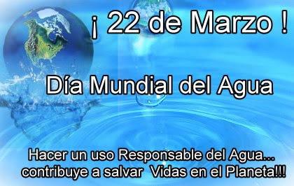 ¡22 de Marzo! Día Mundial del Agua. Hacer un uso Responsable del Agua