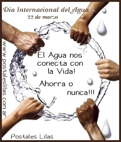 Día Internacional del Agua, 22 de marzo. El Agua nos conecta con la Vida!