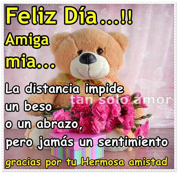 Feliz Día! Gracias por tu hermosa amistad