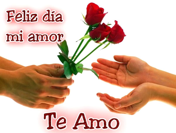 Feliz día mi amor, Te amo