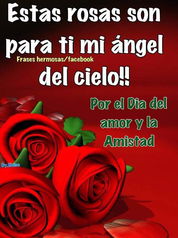 Esta rosas son para ti mi ángel del...
