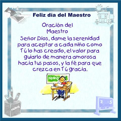 Feliz día del Maestro - Oración del...