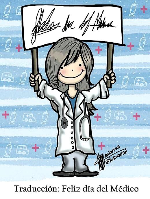 Traducción: Feliz día del Médico