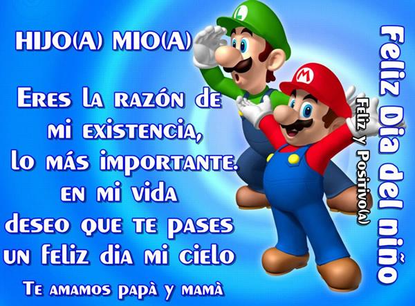 Hijo(a) Mio(a), Feliz Día del niño