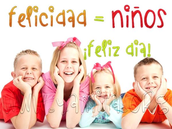 felicidad = niños ¡feliz día!
