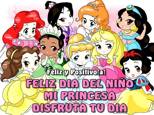 Feliz Día del Niño mi princesa, disfruta tu dia