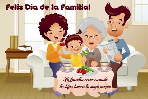 Feliz Día de la Familia! La familia crece cuando los hijos hacen la suya propia