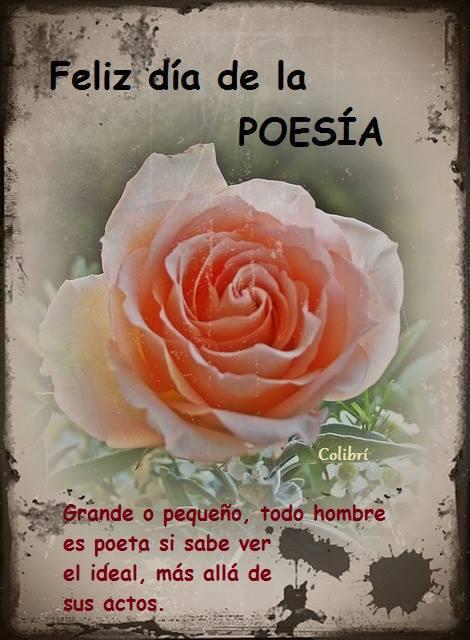 Feliz día de la Poesía