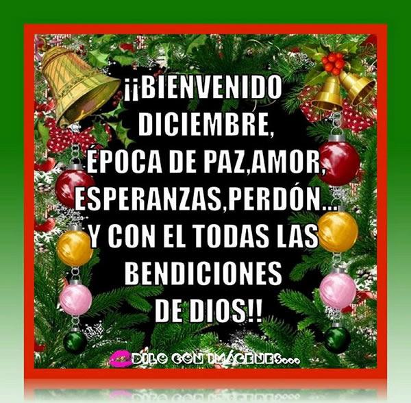 ¡Bienvenido Diciembre! Época de paz, amor, esperanzas, perdón...