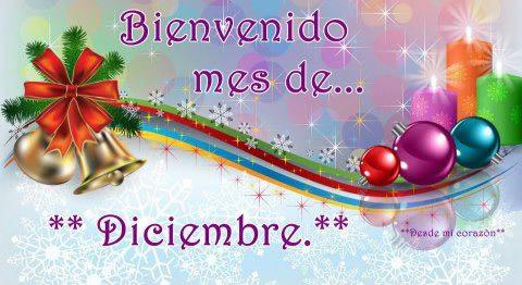 Bienvenido mes de Diciembre