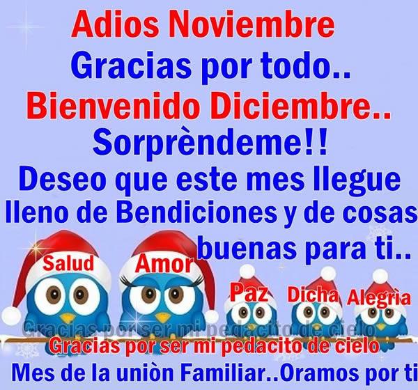 Adiós Noviembre, Gracias por todo... Bienvenido Diciembre, Sorpréndeme!