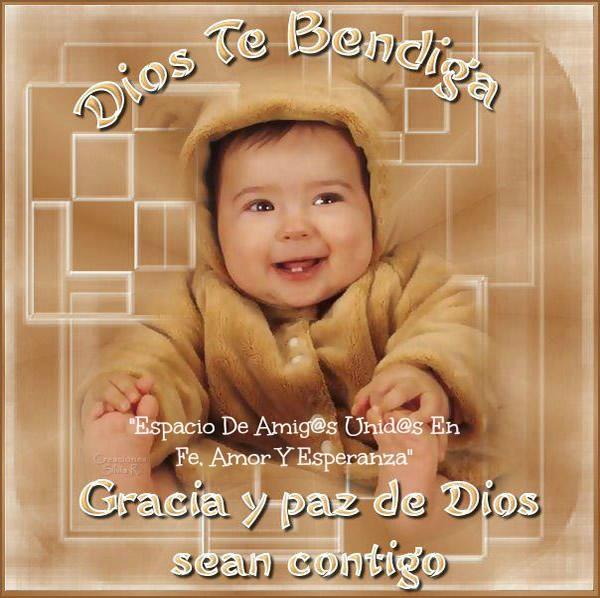 Dios Te Bendiga. Gracia y paz de Dios sean contigo