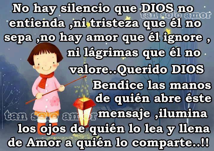 No hay silencio que Dios no entienda...