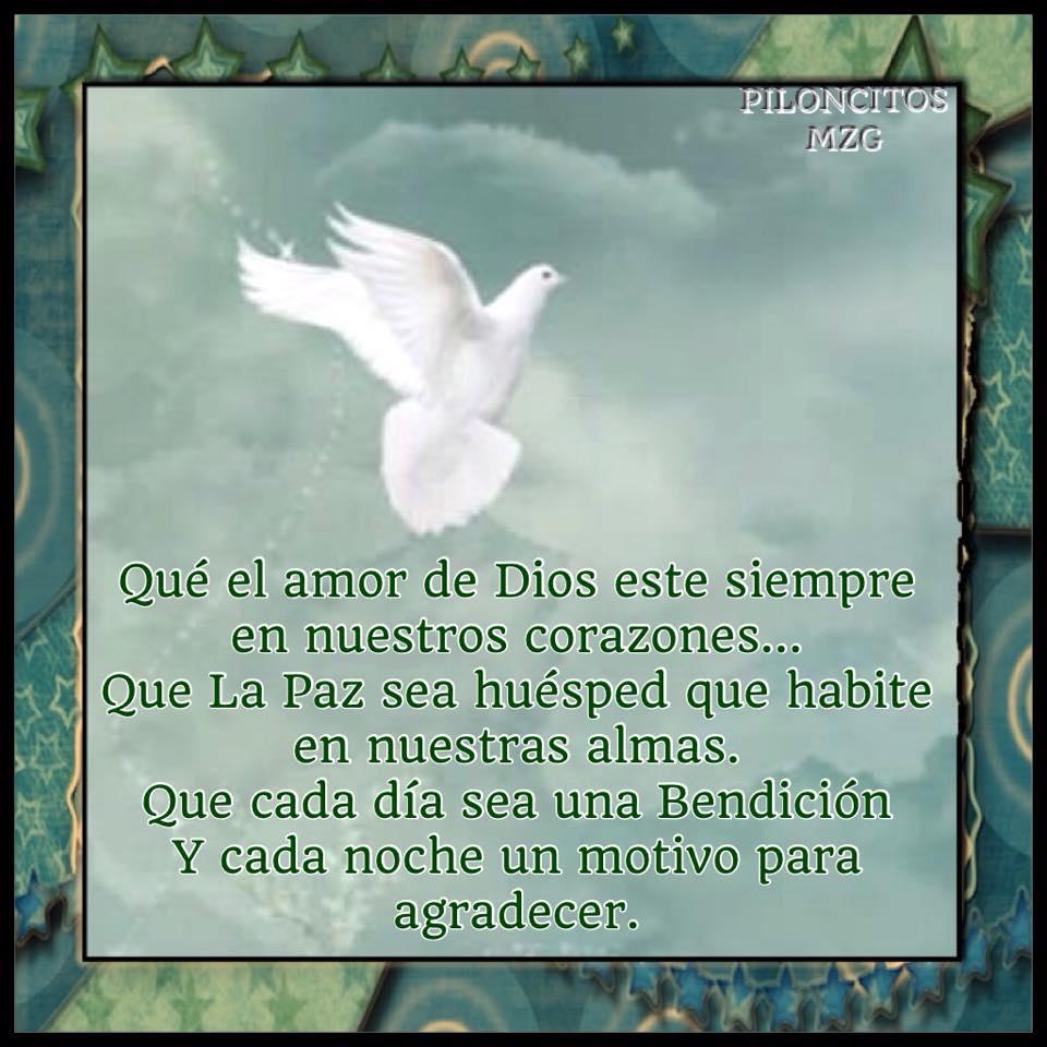 Que el amor de Dios esté siempre en nuestros corazones...