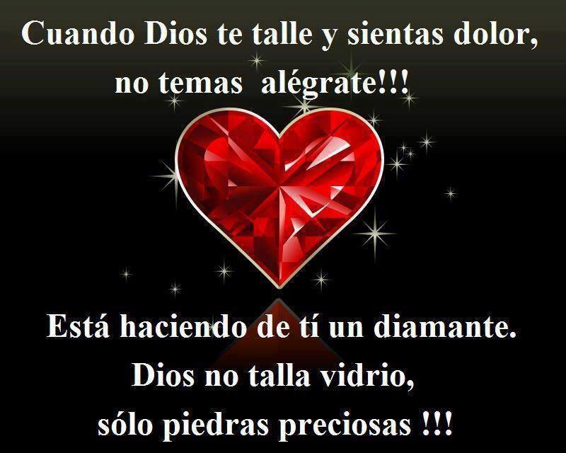 Cuando Dios te talle y sientas dolor, no temas alégrate!