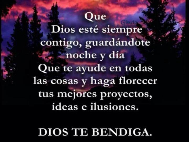 Que Dios esté siempre contigo...