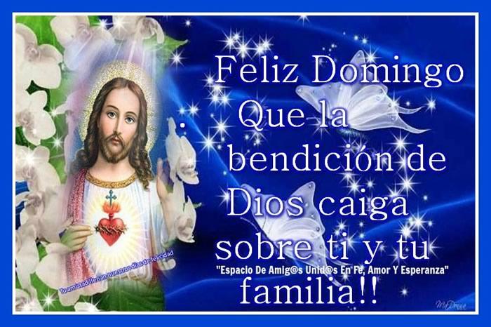 Feliz Domingo, que la bendición de Dios caiga sobre ti y tu familia!!