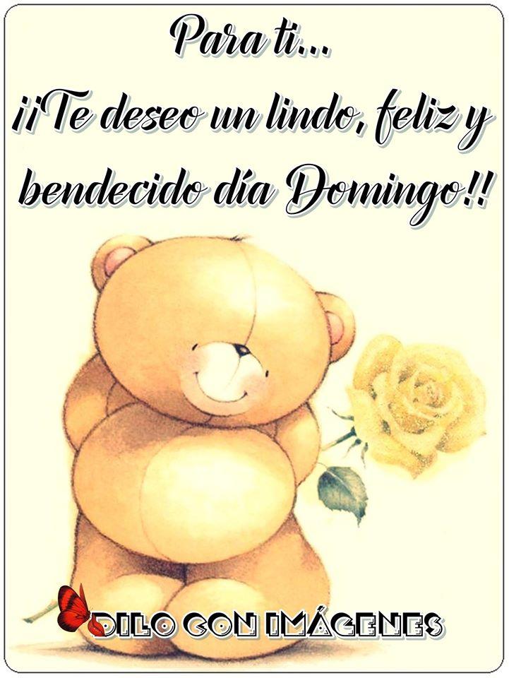 ¡Te deseo un lindo, feliz y bendecido día Domingo!