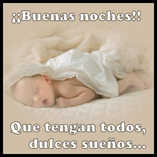 Buenas noches!! Que tengan todos, dulces sueños...