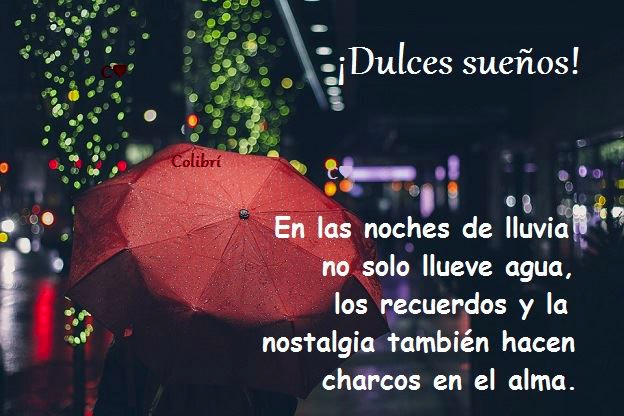 ¡Dulces sueños! En las noches de lluvia no solo llueve agua...