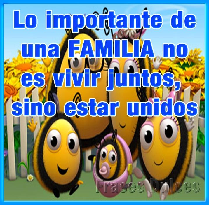 Lo importante de una FAMILIA no es vivir...