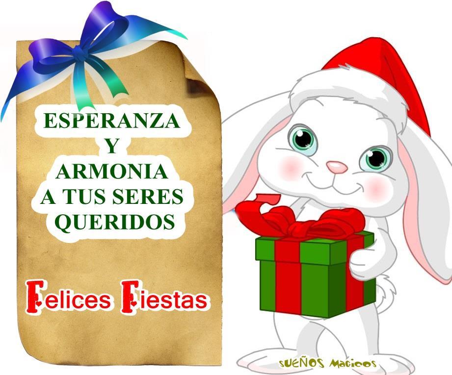 Esperanza y armonía a tus seres queridos. Felices Fiestas