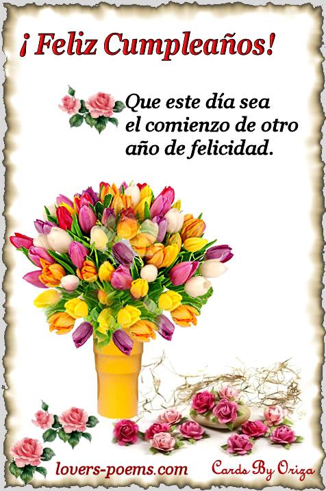 ¡Feliz Cumpleaños! Que este día sea el comienzo de otro año de felicidad