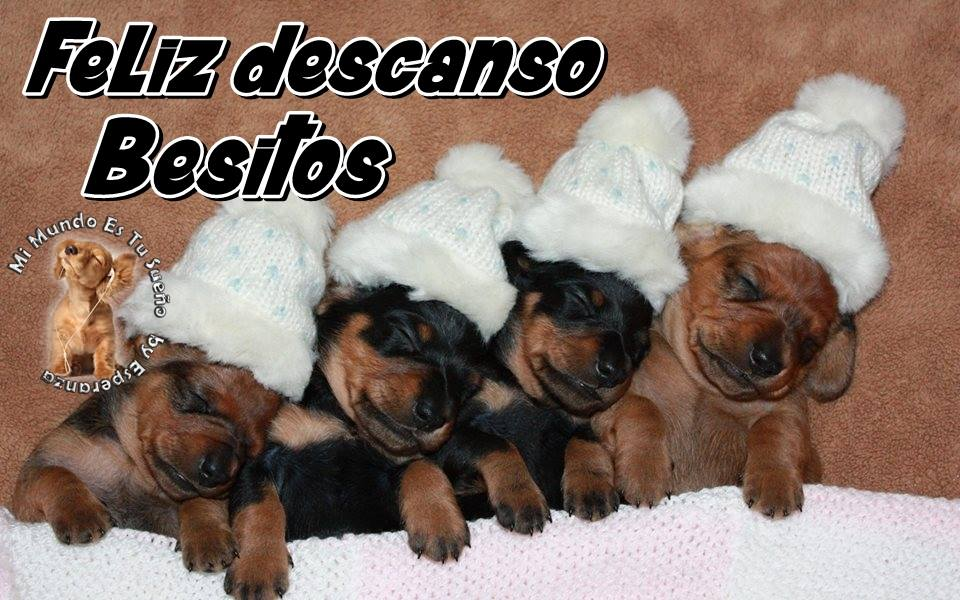 Feliz descanso. Besitos