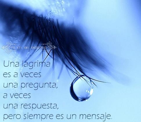 Una lágrima es a veces una pregunta...