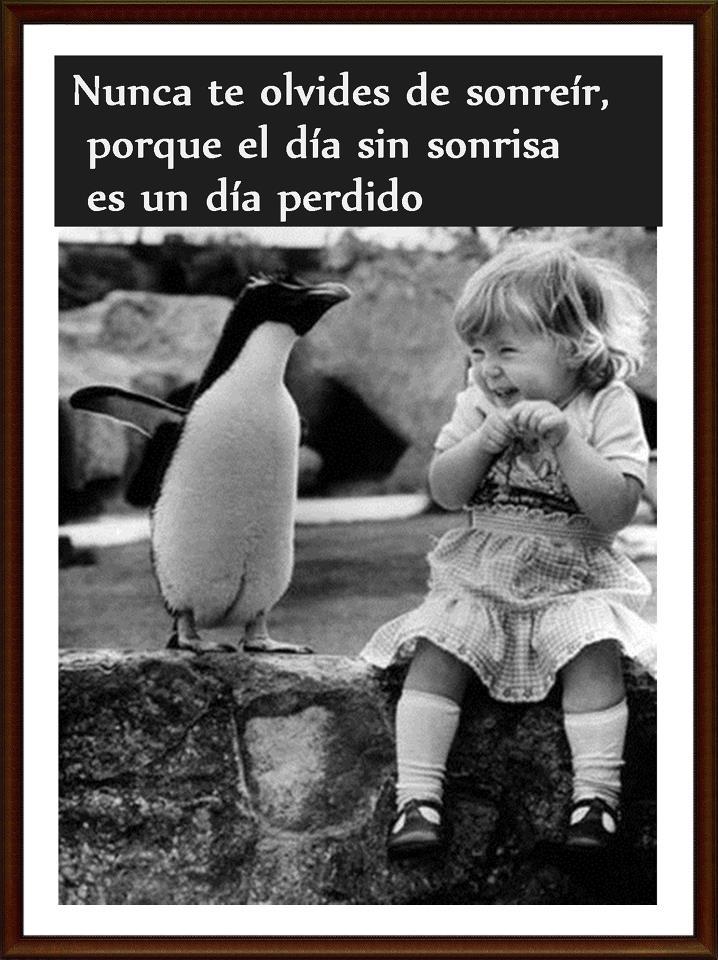 Nunca te olvides de sonreír, porque el día sin sonrisa es un día perdido