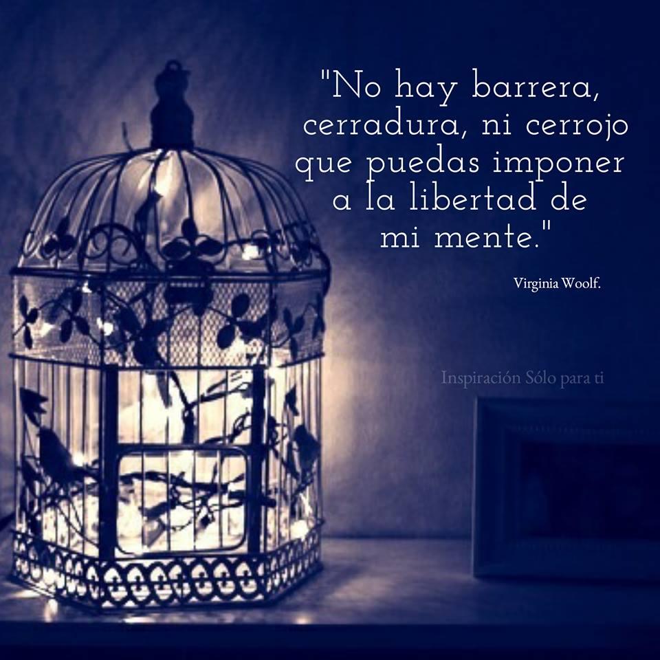 No hay barrera, cerradura, ni cerrojo que puedas imponer a la libertad de mi mente