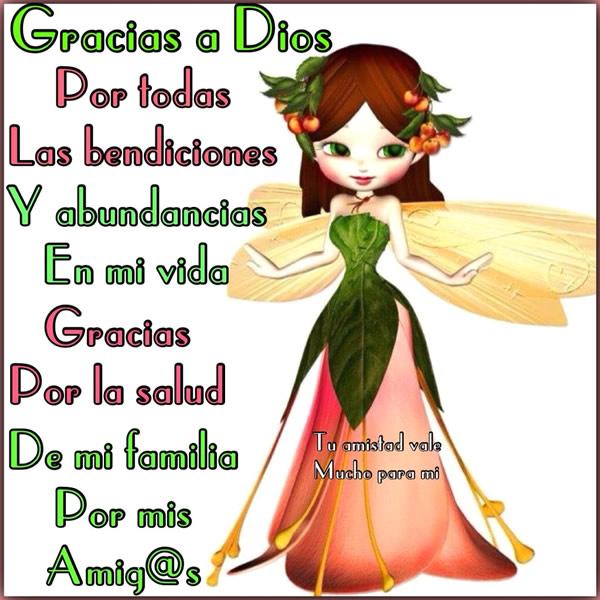 Gracias a Dios por todas las bendiciones...
