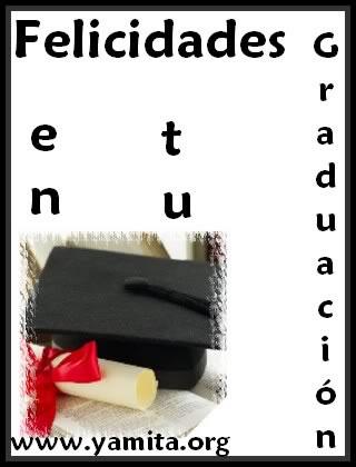 Felicidades en tu Graduación