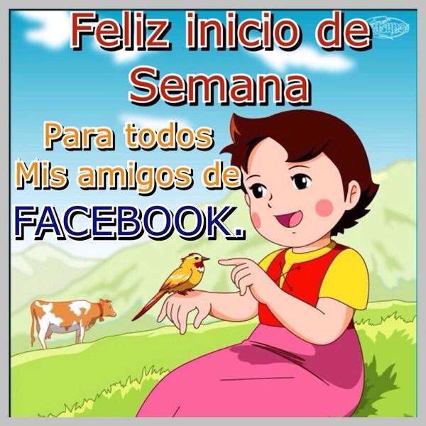 Feliz inicio de semana para todos mis amigos de facebook