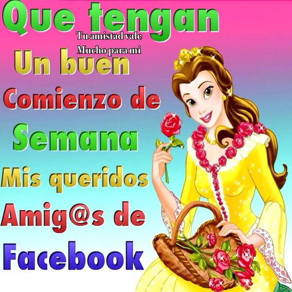 Que tengan un buen comienzo de semana mis queridos amig@s de Facebook