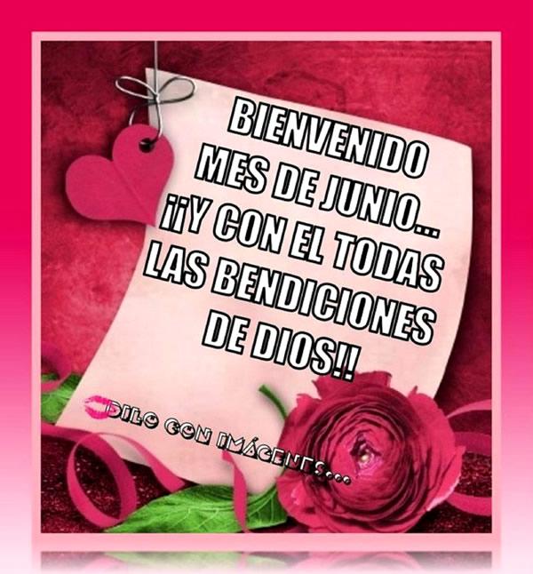 Bienvenido mes de Junio... ¡¡y con el todas las bendiciones de Dios!!