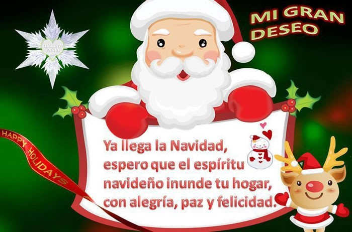 Ya llega la Navidad, espero que el espíritu navideño inunde tu hogar