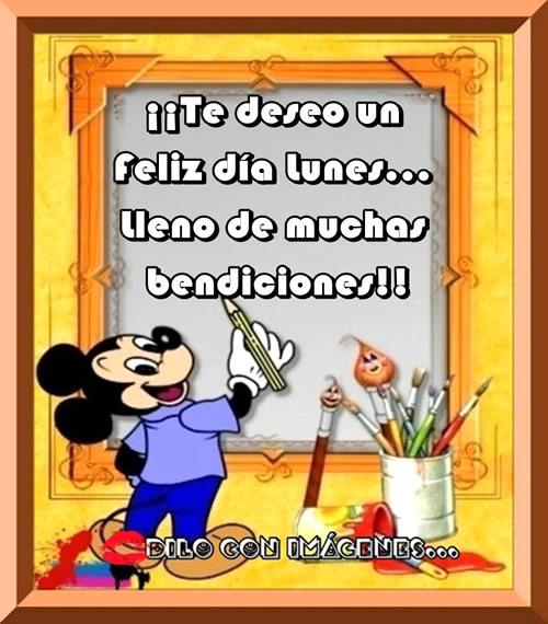 Te deseo un feliz día lunes... Lleno de muchas bendiciones!!