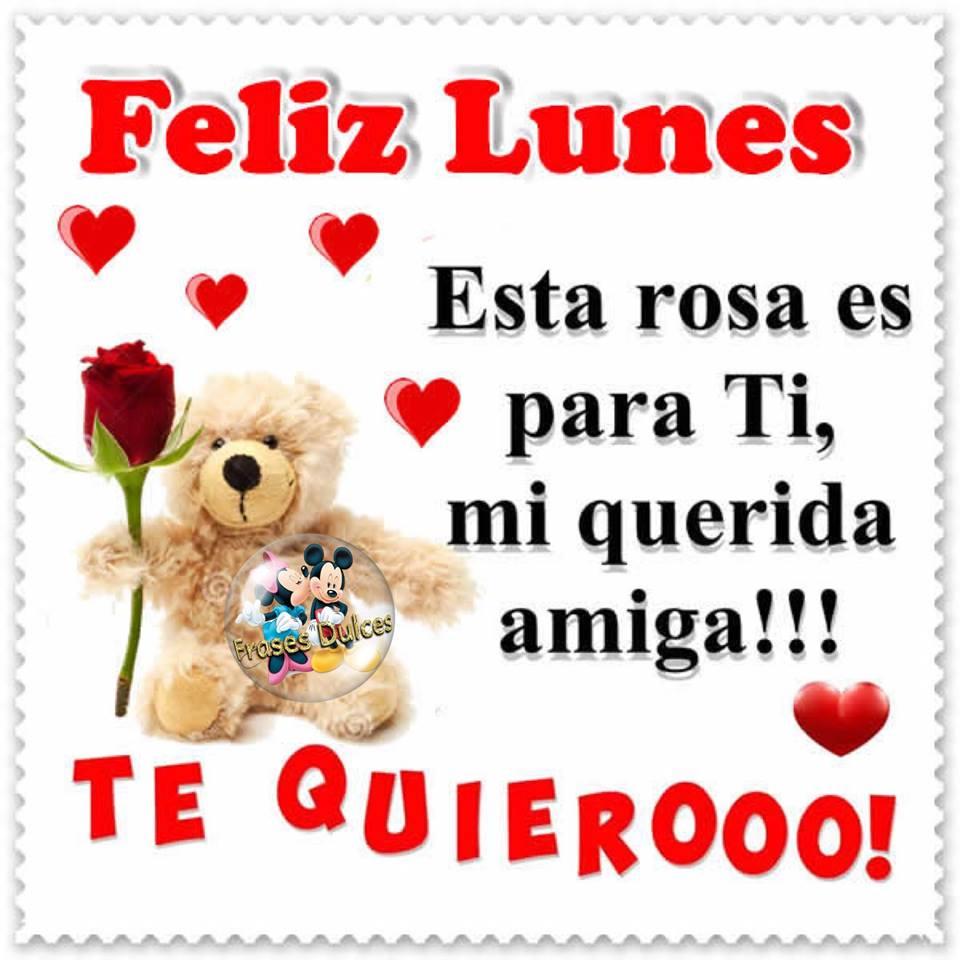 Feliz Lunes Esta Rosa Es Para Ti Mi Querida Amiga Imagen 10501
