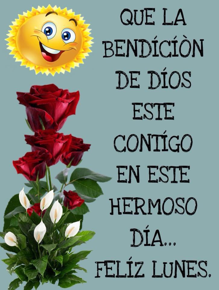 Feliz Lunes. Que la bendición de Dios esté contigo...