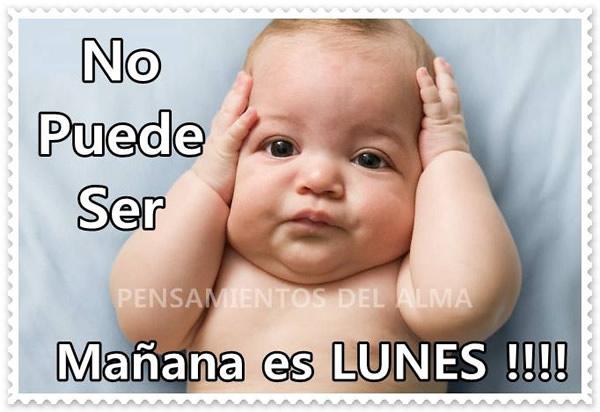 No puede ser Mañana es LUNES !!!
