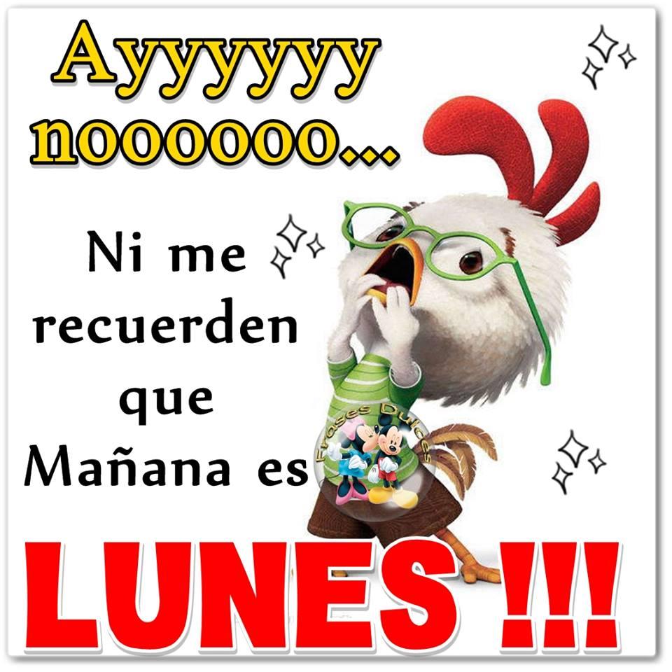 Ayyyyy nooooo... ¡¡¡Ni me recuerden que Mañana es LUNES!!!