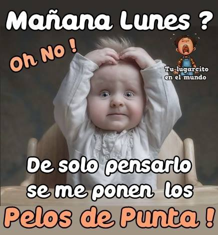 Mañana Lunes ? Oh No !