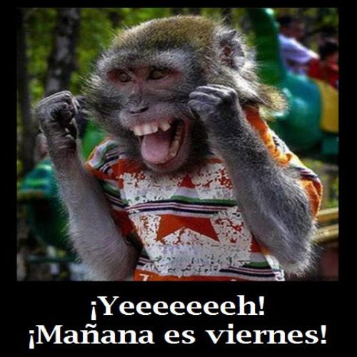 ¡Yeeeeeeeh! ¡Mañana es viernes!