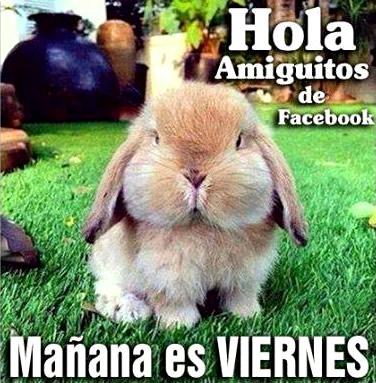 Hola amiguitos de Facebook, Mañana es VIERNES